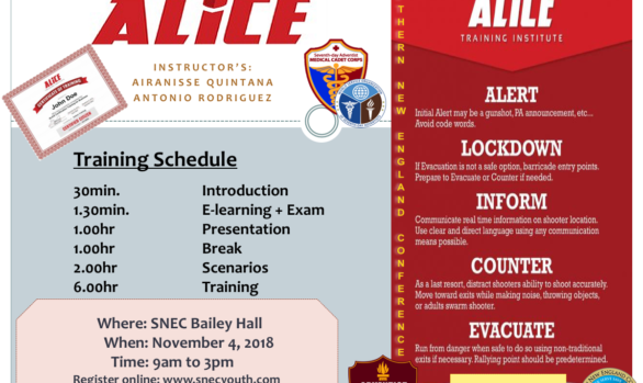 ALICE TRAINING: (Active Shooter Training)