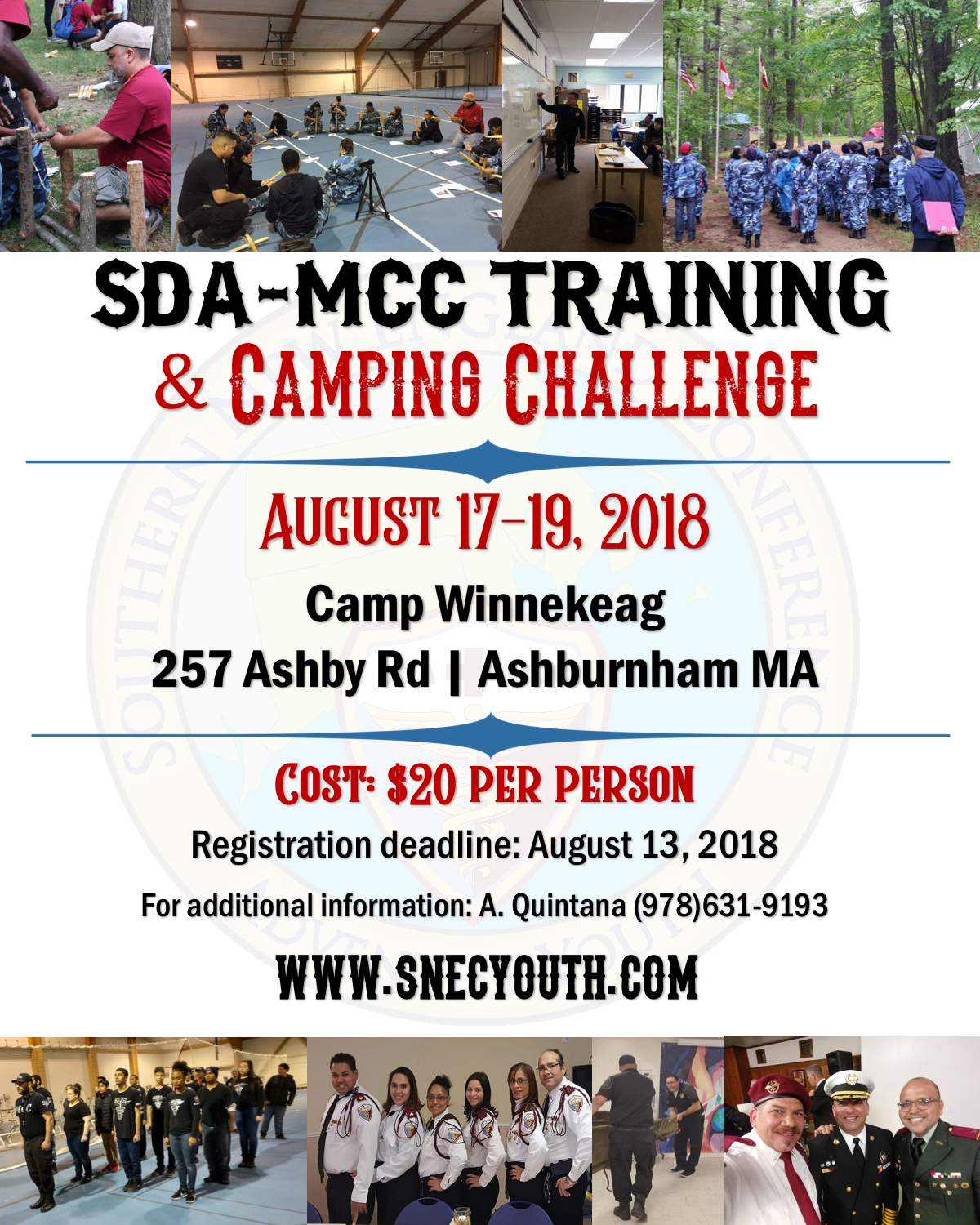 SDA-MCC Training and Camping Challenge
