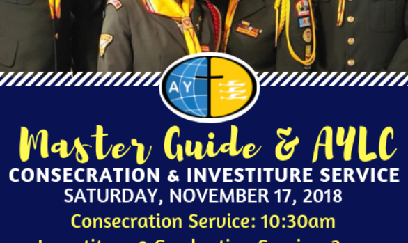 MASTER GUIDE AND ADVENTIST YOUTH LEADERS CONSECRATION AND INVESTITURE SERVICE